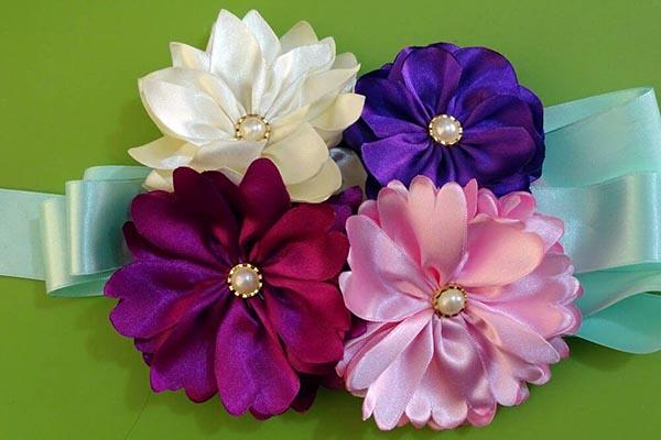 como hacer flores de tela paso a paso